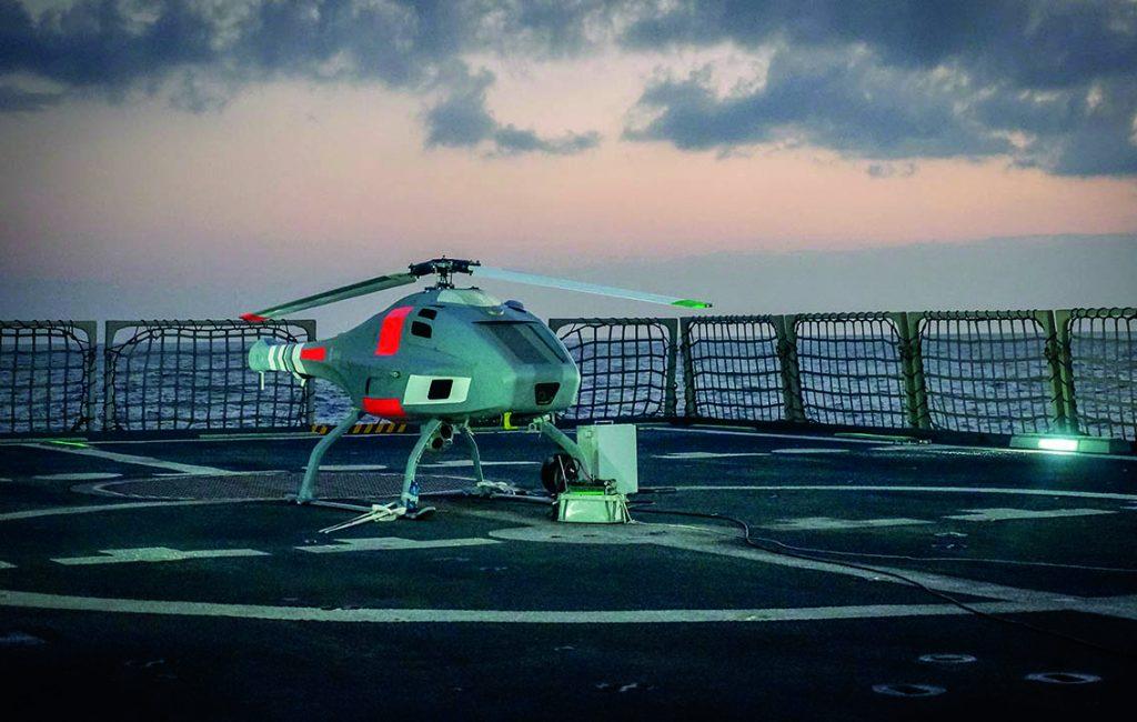 Marinedrohne für Korvette K 130 – Sea Falcon im Anflug