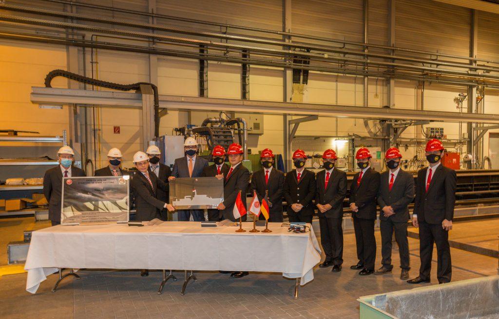 Baubeginn der Minenjäger für die indonesische Marine