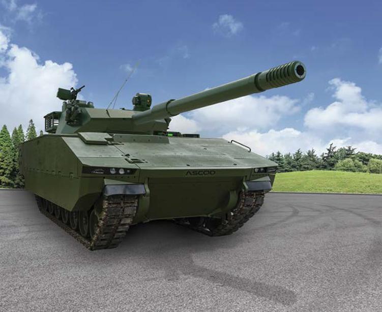 Leichter Panzer Sabrah auf Rad und Kette aus Israel