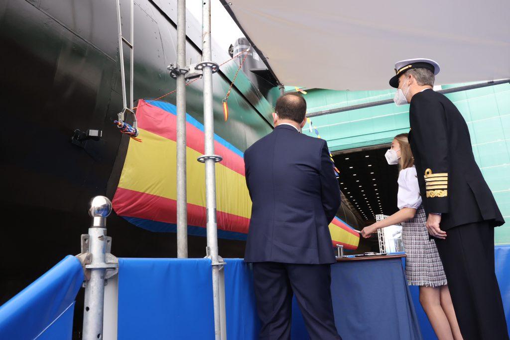 U-Bootbau: Spaniens erstes U-Boot der Klasse S-80 Plus getauft